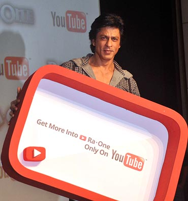 Shah Rukh Khan at the You Tube press conference
