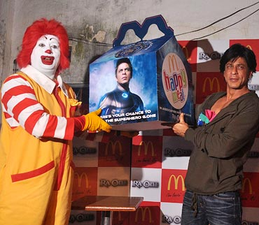 Shah Rukh Khan at a Mc Donalds promotional event