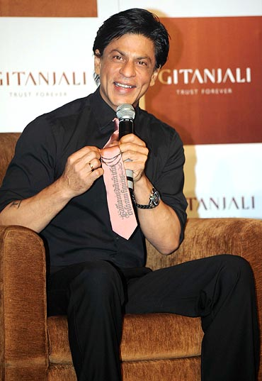 Shah Rukh Khan at the Gitanjali press conference