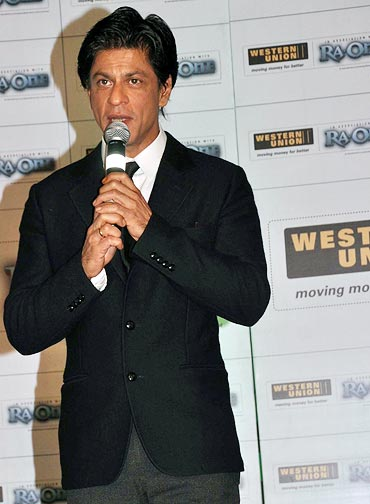 Shah Rukh Khan at the Western Union press conference