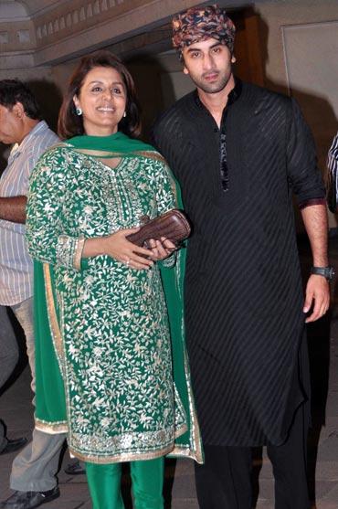 Neetu Kapoor and Ranbir Kapoor