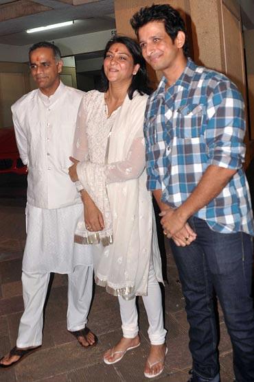 Owen Roncon, Priya Dutt and Sharman Joshi