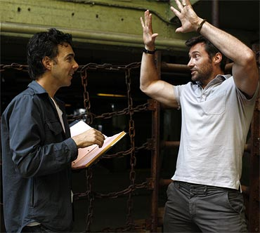 Shawn Levy with Hugh Jackman