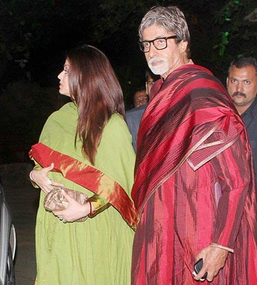 Aishwarya Rai Bachchan and Amitabh Bachchan