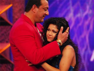 Nihita Biswas with Sanjay Dutt