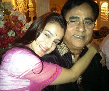 Ameesha Patel and Jagjit Singh