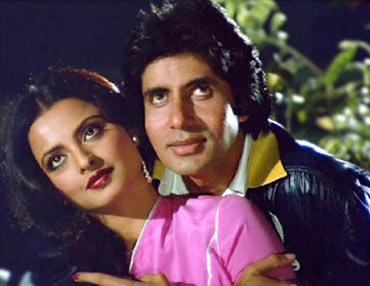 Rekha and Amitabh Bachchan