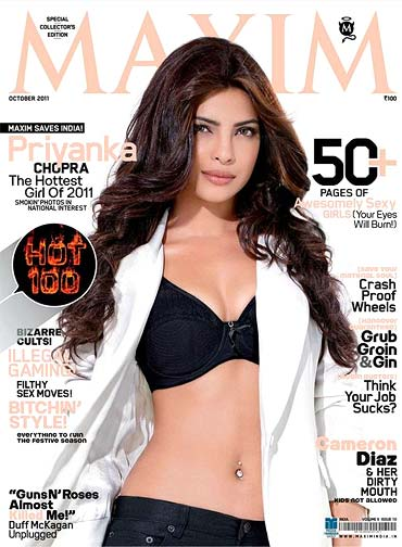 Priyanka Chopra on Maxim cover