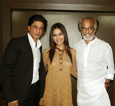 Shah Rukh Khan, Soundarya and Rajnikanth