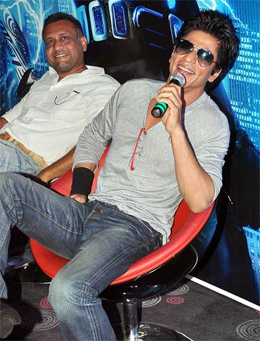 Anubhav Sinha and Shah Rukh Khan