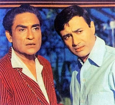 Ashok Kumar and Dev Anand