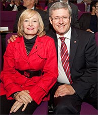 Prime Minister Stephen Harper with wife Laureen