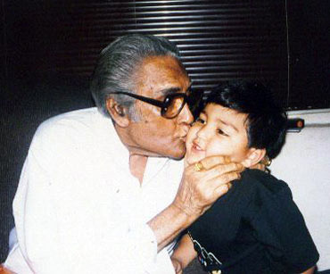 Ashok Kumar with his great grandchild