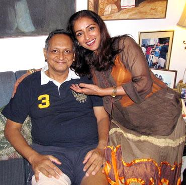 Rahul Patel with sister Anuradha Patel