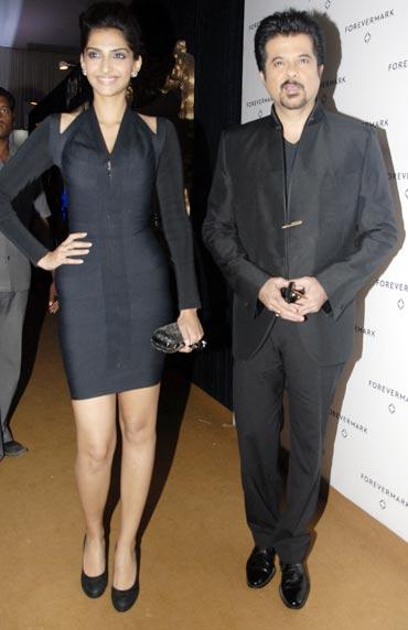 Sonam and Anil Kapoor