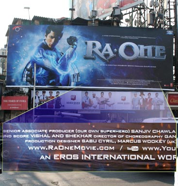 A Ra.One billboard