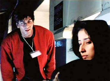Shah Rukh with Manisha Koirala in Dil Se
