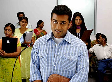 A still from Vaaranam Aayiram