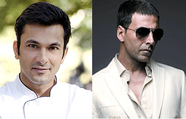 Vikas Khanna and Akshay Kumar