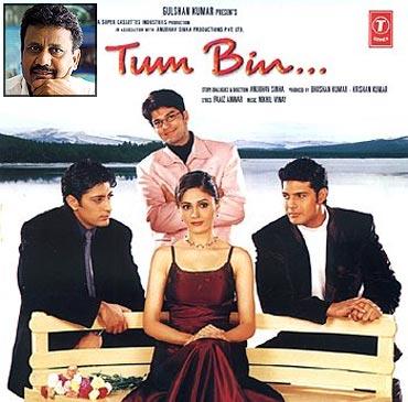 A Tum Bin movie poster. Inset: Anubhav Sinha
