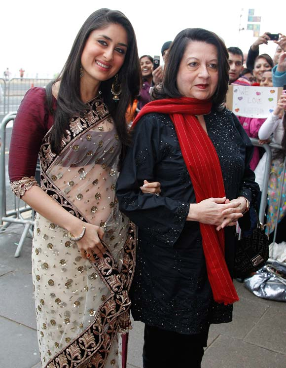 Kareena arrived along with her mother Babita