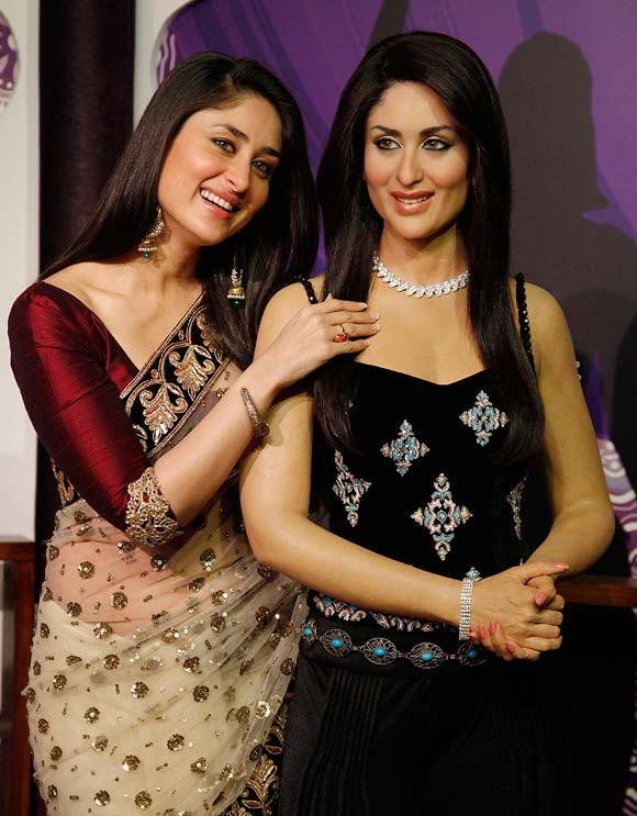 Kareena Kapoor with Wax statue