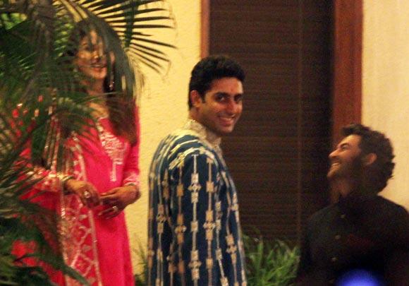 Aishwarya, Abhishek and Neil Nitin Mukesh