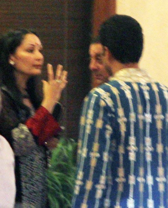 Abhishek Bachchan with Maanyata and Sanjay Dutt