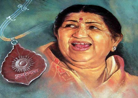 Lata Mangeshkar on Rangoli