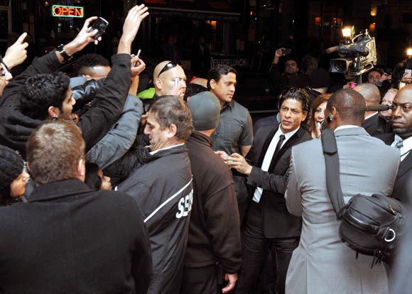 Shah Rukh Khan at the Ra.One Toronto premiere