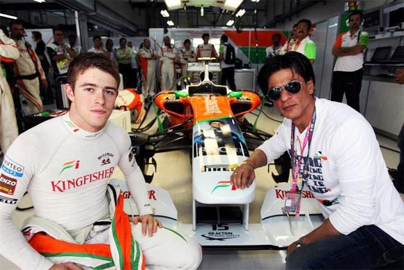 Shah Rukh Khan with Paul di Resta