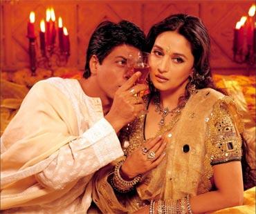 Shah Rukh Khan and Madhuri Dixit in Devdas