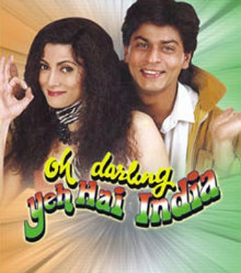Deepa Sahi and Shah Rukh Khan in Oh Darling! Yeh Hai India!