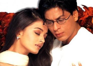 Aishwarya Rai and Shah Rukh Khan in Mohabbatein