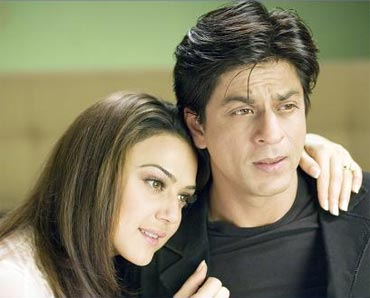Preity Zinta and Shah Rukh Khan in Kabhi Alvida Na Kehna