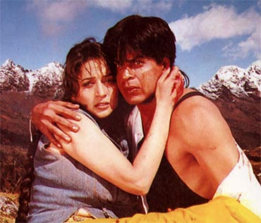 Madhuri Dixit and Shah Rukh Khan in Koyla