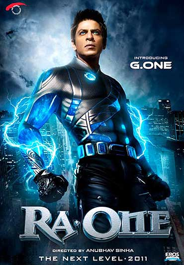 A Ra.One movie poster