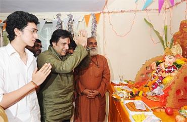 Govinda with son Yash Mithun