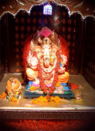 Ganpati at Lata Mangeshkar's house