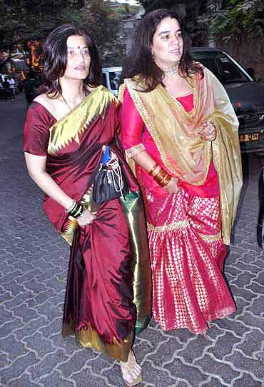 Sarika with Reena Dutta
