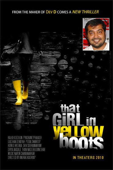 A That Girl In Yellow Boots poster (inset) Anurag Kashyap