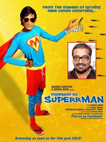 A Malegaon Ka Superrman movie poster (inset) Anurag Kashyap