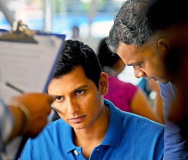 Gautham directing Jiiva