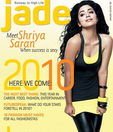 Shriya Saran on Jade cover