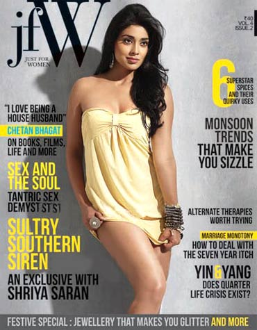 Shriya Saran on JFW cover