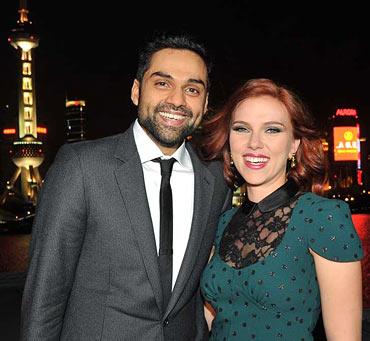 Abhay Deol and Scarlett Johansson