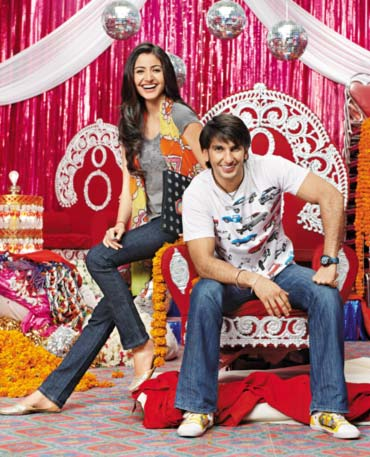 Anushka Sharma and Ranveer Singh in Band Baaja Baaraat