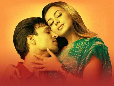 Vivek Oberoi and Rani Mukerji in Saathiya