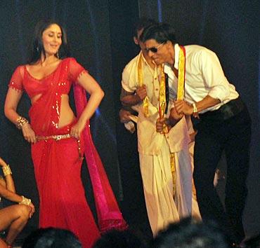 Kareena Kapoor and Shah Rukh Khan