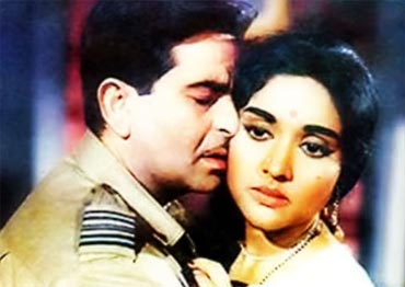 Raj Kapoor and Vyjayanthimala in Sangam